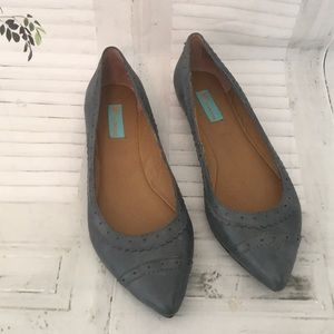 Miz Mooz Wally Gray Leather Flats size 7.5